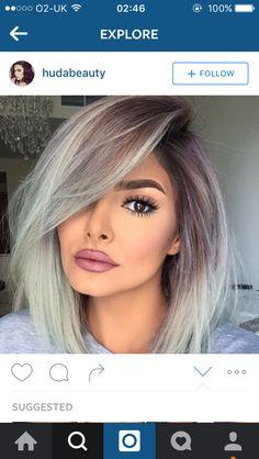 Grey silver Bob hairstyle