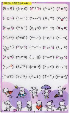 Détails sur Korean Face Sticker / Falling in love Face Stickers, Kawaii Stickers, Bullet Journal Ideas Pages, Bullet Journal Inspiration, Cool Text Symbols, Scrapbook Paper Crafts, Scrapbooking, Korean Crafts, Korean Letters