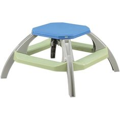 American Plastic Toys Kid's Picnic Table, Silver