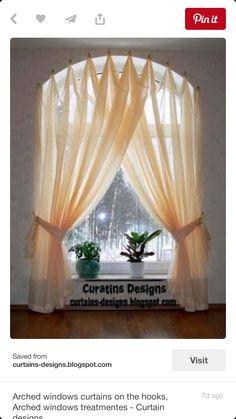 Half Circle Window Curtains Arched windows curtains on the hooks Arched windows treatmentes