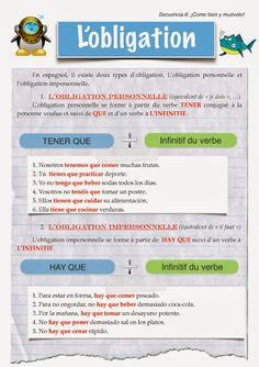 CLASE DE ESPAÑOL : obligation #learn #spanish #kids