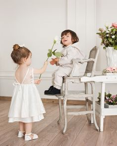 Ivory lace dress for little princess and formal occasions set for boys. Ideal for baptism and special occasions.  #Minisize #SS14 #Spring #Summer #For_Special_Occasions Dress: http://www.minisize-sissychristidou.gr/el/special-occasions/ivouar-dandeloto-forema-fiogkaki.html Boy's set: http://www.minisize-sissychristidou.gr/el/special-occasions/pez-vaftistiko-set-kaparntina.html