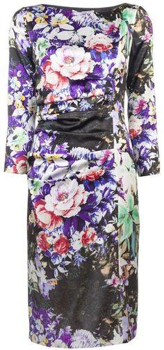 ETRO Floral Dress - Lyst