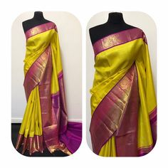 A must-have silk sari for wardrobe. All about luxurious Kanchipuram silk saree and its importance. South Indian Sarees, Indian Silk Sarees, Pure Silk Sarees, Indian Beauty Saree, Saree Blouse Patterns, Saree Blouse Designs, Dress Designs, Indian Dresses, Indian Outfits