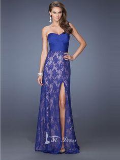 Sheath/Column Sleeveless Lace Floor-Length Dresses