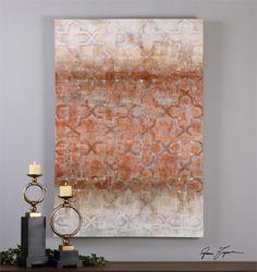 Art above hall table Uttermost Geometric Impressions Modern Art