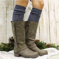 ALPINE  tall boot socks - vintage blues
