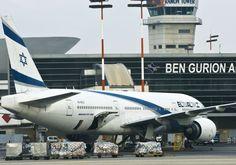 Uma aeronave 777 El Al Boeing é visto no Aeroporto Internacional Ben Gurion de #TelAviv Foto por: NIR ELIAS / REUTERS / IDF PORTA-VOZ