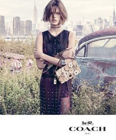 Fabien Baron and Stuart Vevers Find Beauty in the American Junkyard in Coach's Spring 2017 Campaign, Photographer Steven Meisel, Models Cara Taylor
