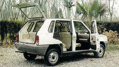 Fiat Panda / Seat Marbella five-door prototype designed by the spanish coachbuilder Emelba Fiat Panda, Fiat 126, Good Drive, The Italian Job, Good Looking Cars, Fiat Cars, Fiat Abarth, Car Advertising, Steyr