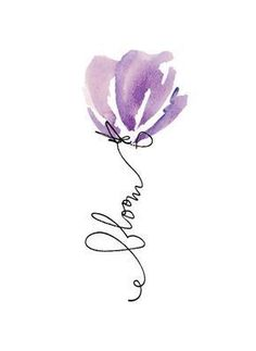 Easy Watercolor, Watercolor Cards, Watercolour Painting, Painting & Drawing, Watercolors, Watercolor Illustration, Watercolor Artists, Aquarell Tattoos, Simple Flowers
