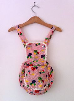 Vintage Baby Romper Forest Theme by TheAppleBobber on Etsy