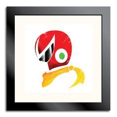 Mega Man Helmet Prints. via Etsy.