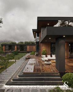 Modern Exterior House Designs, Dream House Exterior, Modern Architecture House, Modern House Design, Exterior Design, Modern Minimalist House, Modern Contemporary House, Modern Home Exteriors, House Structure Design