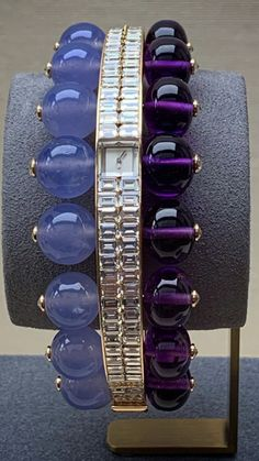 Stainless Steel Lavender Purple Pastel Color Enameled Flat Thin Women Bangle Length 8.8