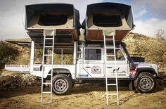 When you #overland  but you also have 5 kids. Photo by @knightsbridgeoverland . - - #offroad #offroading #landrover #rooftoptent #bugout #survival #wytac #camping #campingtools #tactical #tacticalgear