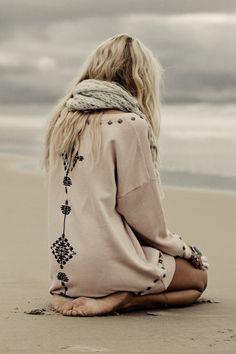 Southwest Studded Sloppy Joe sweater, Spell Designs