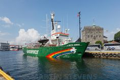 Close encounter with Greenpeace :-) Bergen-haven-MSD-20130727-296499