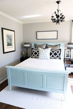Light grey, light blue, and dark accents. Love it!!.