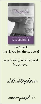 """Authorgraph from S.C. Stephens for """"Thoughtless"""""""