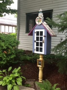 This is the little free library I we built for my lovely nieghbourhood, Historic Grimsby Beach  Grimsby Ontario