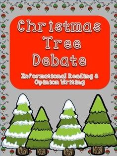 Christmas Tree Informational Reading & Opinion Writing by Dream to Teach