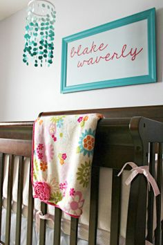 IHeart Organizing: Baby Blake's Beautiful & Bright Nursery