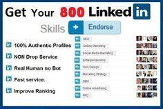 Get 800+ Genuine LinkedIn Skills Endorsements for $5 HERE->>