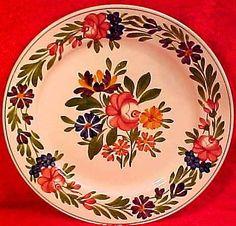 Antique-Vintage-Sarreguemines-Majolica-Faience-Plate-Rusticana-ff229