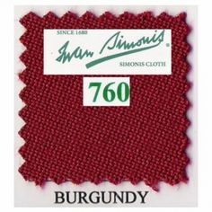 Kit tapis Simonis 760 7ft US Burgundy - 190,00 €  #Jeux