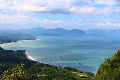 Pelabuhan Ratu dari atas Bukit - Sukabumi, Indonesia