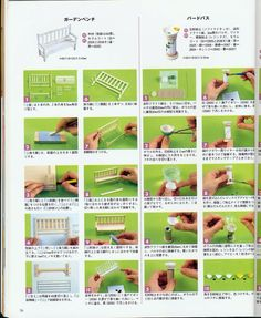 House Miniatures - pages and pages of diagrams Dollhouse Miniature Tutorials, Miniature Rooms, Miniature Crafts, Miniature Houses, Diy Dollhouse, Dollhouse Miniatures, Modern Dollhouse, Patterned Furniture, Tiny Furniture