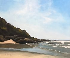 Cape Perpetua, Oregon-Acrylic Painting by Suzanne Connors Oregon, Cape, Graphic Design, Studio, Creative, Artist, Painting, Outdoor, Mantle