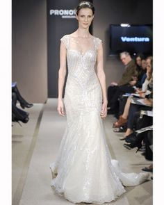 Beaded trumpet. Pronovias Fall 2013. LOVE THE LOOK......NEEDS A VIEL OR DECORATIVE HEAD ACCESSORY!!!!! >