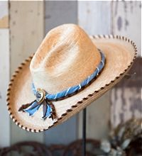 c99a19c97fb MM Palm Leaf Hat from Melissa Benge Collection Cowgirl Chic