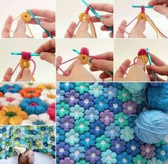 We're in love with these stunning Crochet Flowers and it's a Free Pattern. The texture makes it the perfect stitch for blankets and the raised effect will look gorgeous in all your favourite colours! Click here For FLOWER CROCHET FREE PATTERN