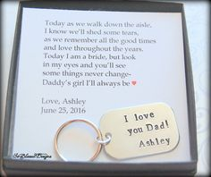 Father of the Bride gift, from Bride, Father of Bride gift ideas, Unique Father of the Bride gifts, Father of the Bride key chain If youre looking for the perfect Father of the Bride gift- youve found it! He will cherish this beautiful key chain for years Wedding Gifts For Parents, Wedding Day Gifts, Bride Gifts, Gifts For Father, Wedding Thank You, Our Wedding, Bridesmaid Gifts From Bride, Dad Gifts, Wedding Favours