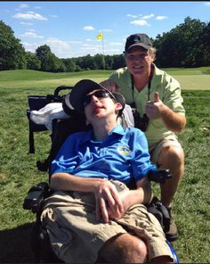 Dave Finn shares his passion for golf with AAC assistive device! You go Dave! Pinned by SJH