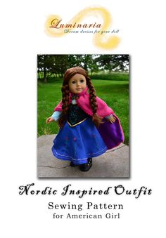 Anna Travel outfit - American Girl doll outfit. Pic leads to sewing pattern