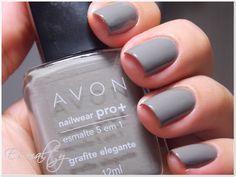 Esmalty: Grafite Elegante - AVON Nailwear Pro+