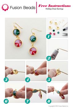 In just a few quick-and-easy steps you'll be ready to wear our festive new Christmas Cheer earrings! This fun DIY design features stunning Swarovski crystal rivolis and @tierracast components, perfect for your upcoming holiday parties.