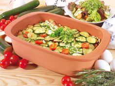Stewed Zucchini in Romertopf Cheesy Potatoes With Hashbrowns, Small Red Potatoes, Cheese Ingredients, Potatoes Au Gratin, Macaroni Cheese, Vegetable Side Dishes, Stew, Zucchini, Main Dishes