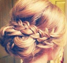#hair #braid #bun