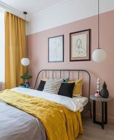 guide and tips for bedroom wall decor Pink Bedroom Walls, Bedroom Green, Bedroom Colors, Home Decor Bedroom, Blush Pink Bedroom, Bedroom Wall Designs, Bedroom Interiors, Bedroom Curtains, Design Bedroom