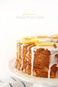 Blogger @Leah Bergman / Freutcake shared this delicious Lemon Angel Food Cake and her tips for making it on Delish Dish!