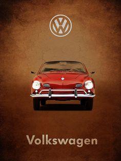 Volkswagen Karmann Ghia Print By Mark Rogan