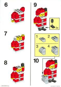 LEGO 1978 Santa Claus instructions displayed page by page to help you build this amazing LEGO Basic set Hama Beads Minecraft, Lego Minecraft, Lego Basic, Lego Advent Calendar, Lego Winter, Lego Design, Lego Disney, Legos, Lego Christmas Village