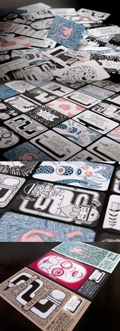 Hand Illustrated Business Card Designs    http://cardobserver.com/gallery/amazing-hand-illustrated-business-card-designs