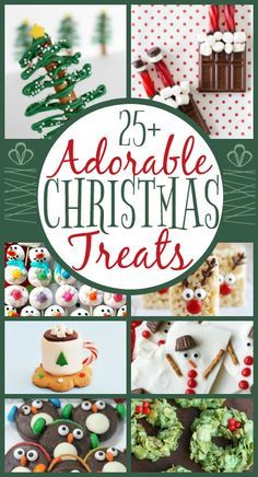 Adorable Kid-Friendly #Christmas Treats   When Christmas time rolls around there are a million treats that you want to bake, eat, buy and share with friends and family. This roundup of treats are not only yummy but adorable too!