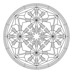 Spyderhouse  mandala - designed for colouring, with adults in mind.